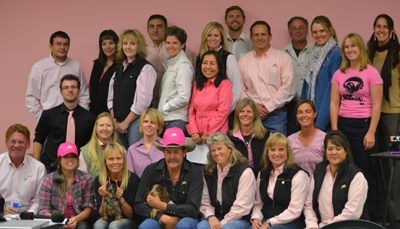 Parelli staff wears pink to support Breast Cancer research